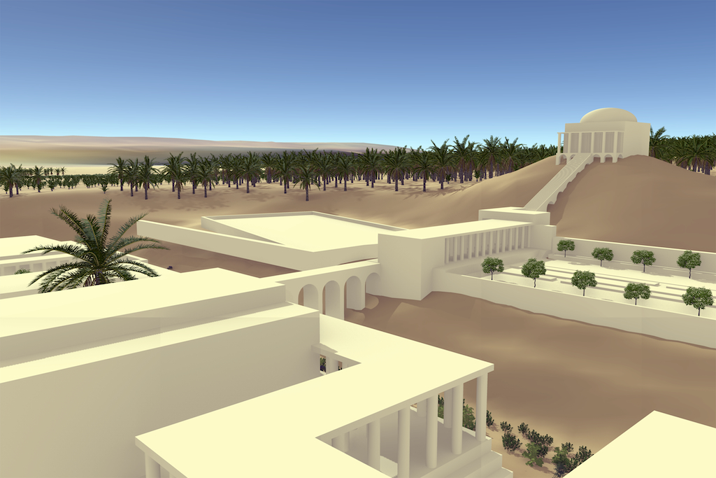 Biosphere3D rendering of Herod's 3rd winter palace and gardens